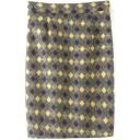 Rhombus Geometric Print Plaid Tube Tweed Skirt