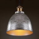 Gun Metal Grey 1 Light LED Pendant Light with Bowl Shade