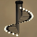 Black Industrial Style 26 Light 26 Tier LED Chandelier