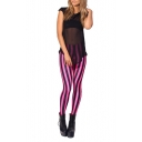 Vertical Stripe Multicolor Skinny Spandex Leggings