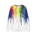 Colorful Graffiti Loose Round Neck Pullover Sweatshirt