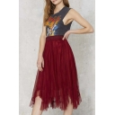 Asymmetrical Elastic Waist Tulle Sweet Skirts