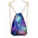 Girl's Drawstring Backpack with Magical Ocean of Stars