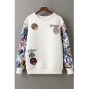 Fashion Printed Skull Drop Shoulder Sweatshirt