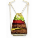 Lunch Hamburger Weekend Bag Backpack