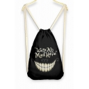 Letter Print Smile Weekend Bag Backpack