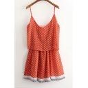 Spaghetti Straps Floral Print Blouson Sun Dress