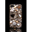 Fashion Bling Luxury Flowers Pearls Rhinestone Design Soft Case for iPhone