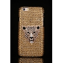 Luxury Leopard Pattern Crystal Rhinestone Design Soft Case for iPhone