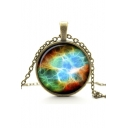 Vintage Metal Gemstone Galaxy Women's Necklaces