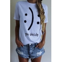 Basic Letter Print Graphic Tees