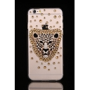 Cool Leopard Crystal Rhinestone Pattern Soft Case for iPhone