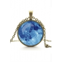 Hot Popular Metal Gemstone Galaxy Women's Necklaces