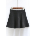 A-line Pintuck Decor Mini Skirts