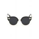 Vintage Round Alloy Women's Chic Sunglasses(Free Glasses Box)