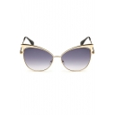 Alloy Steampunk Mirrored Panel Radiation Protection Sunglasses(Free Glasses Box)