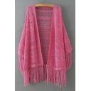 Crochet Tassel Knitted Kimono