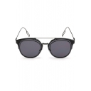 Alloy Steampunk Mirrored Panel Radiation Protection Hiking Sunglasses(Free Glasses Box)