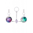 Metal Galaxy Special Double Side Pattern Key Chain
