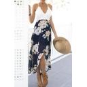Sheer Lace Paneled Asymmetrical Crisscross Back Dresses