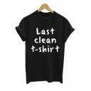 Letter Print Cuffed T-shirts