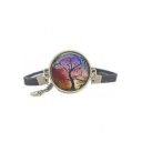 Special Galaxy Tree Metal Gemstone Vintage Bracelets