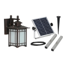 Dark Bronze 13 Inches High Solar Powered Super Bright Garden Outdoor Wall Lamp