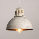 Mottled Rust Single Light LED Mini Pendant Light in Bowl Shape