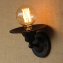 Matte Black 1 Light 6 Inches High LED Wall Sconce in Unique Design