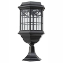 Heatproof 18'' H Wireless 12 LED Solar Outdoor Lantern Post Light
