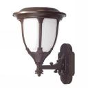 13 Inches High Modern Style Smart Motion Sensor Solar LED Garden Patio Wall Lamp