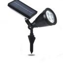 Solar Power ABS Black Finish 4 LED Outdoor Spotlight