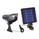 Cool White 8 LED Super Bright Solar Power Wall Mount Spotlight