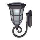 Nautical Style Antique Gun Metal Grey 14 Inches High Outdoor LED Solar Wall Lamp