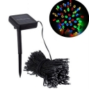 50 LEDs Solar Powered 13 Feet  Multi Color Outdoor Decorative String Light