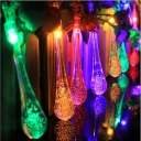 30 Pieces Water Drop Solar LED Low Voltage String Outdoor Lighting