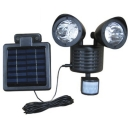 Dual Head 22 LEDs Super Bright Solar Powered Garage Spotlight Security Wall Mount