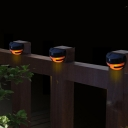 Set of 4 Plastic Semi-globe 2 LED Solar Power Step Light