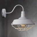 White Industrial Outdoor Barn LED Wall Light