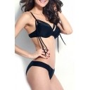 Sexy Women Strapy Bikini Set Push-up Padded Bra Swimsuit