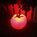 Tomato Shape Mini Solar Powered Landscape Garden Lawn LED Lighting