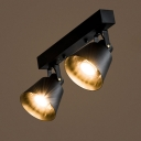 15 Inches Wide Double Head LED Ceiling Light Spotlight