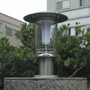 Chic Design Stainless Steel 12 Inches High Bright Solar LED Outdoor Lawn Post Light
