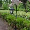 Vintage Black 34 Inches High Solar Powered LED Decorative Outdoor Garden Pathway Lighting