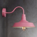 Cute Pink Barn Style Warehouse Shade LED Wall Sconce