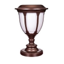 Unique Design 14 Inches High Copper Finish Solar 12 LEDs Outdoor Post Lighting