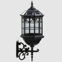 Matte Black  Nine Inches Wide Special Designed Solar Powered LED Wall Lamp