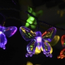 30 Pics Butterfly Solar Decorative Garden Lawn LED String Light Knit