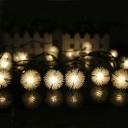 Warm White 30 Pics Chuzzle Ball Decorative Solar LED String Light