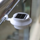 Plastic 3 LED Solar Powered Light Sensor Outdoor Deck Light